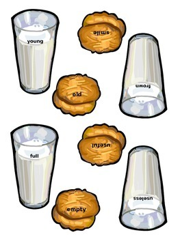 Cookies & Milk Antonyms Matching