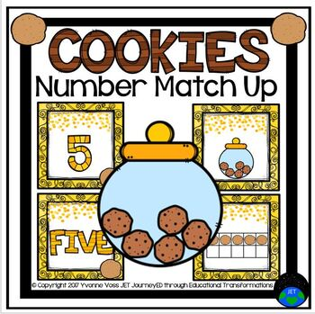 Cookies Number Match Up Math Center