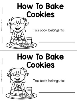 How to Bake Cookies Guided Reading Book