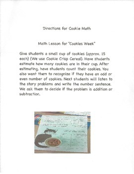 Cookies Week Hands-On Math Lesson