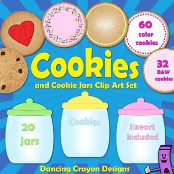 Cookies and Cookie Jars: Clip Art Set