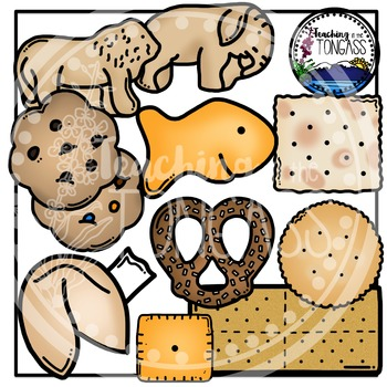 Crackers Clipart and Cookies Clipart Bundle