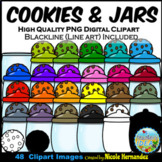 Cookies and Jars Clip Art for Personal and Commercial Use