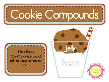 Cookies and Milk Compound Word Matchup