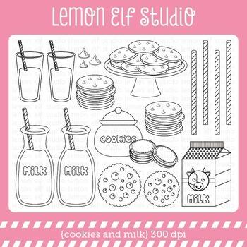 Cookies and Milk-Digital Stamp (LES.DS42)