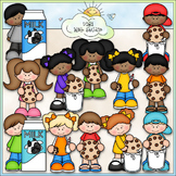 Cookies and Milk Kids Clip Art - Cookies and Milk Clip Art