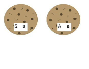 Cookies and Milk Letter Sound Match Game
