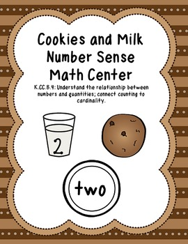 Cookies and Milk Number Sense Math Center