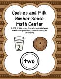 Cookies and Milk Number Sense Math Center