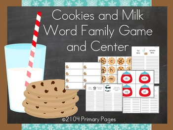 Cookies and Milk CVC Real vs. Nonsense Word Game (Word Families)
