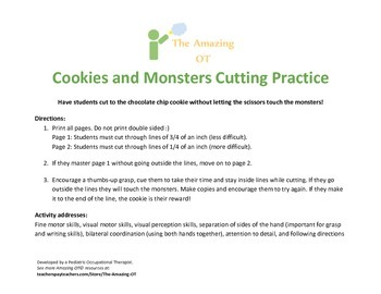 Cookies and Monsters Cutting Practice