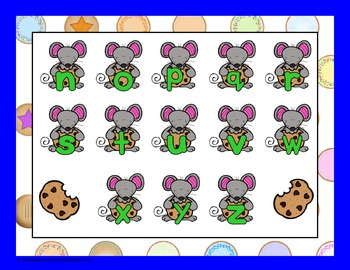Cookies and a Mouse Alphabet File Folder Game
