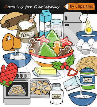 Cookies for Christmas Clipart NEW