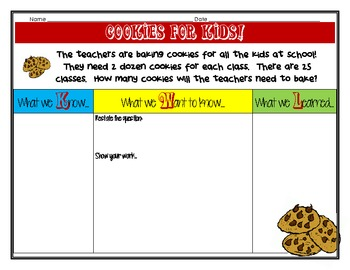Cookies for Kids, Multiplying 2 Digit Numbers