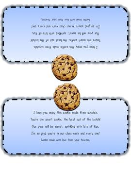 Cookies for Meet the Teacher/Open House Night