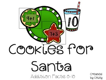 Cookies for Santa: Addition Facts 0-10