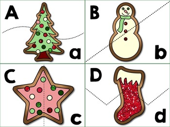 Cookies for Santa Alphabet Match