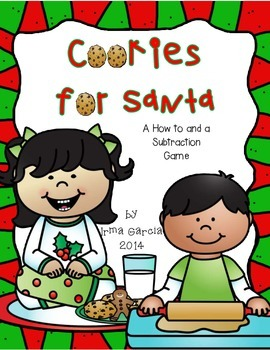 Cookies for Santa a How to and Subtraction Game