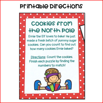 Cookies from the North Pole: An Elf- Themed Counting to 10 Activity