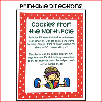 Cookies from the North Pole: Elf- Themed Making 10 Activities