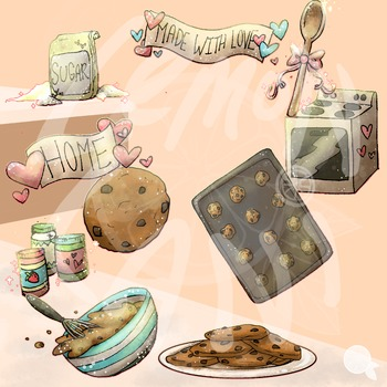 Cookies in the Kitchen Clip Art