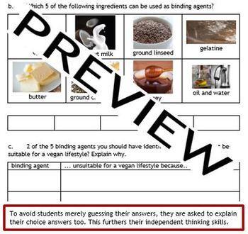 Cooking: Food preparation skills - preparing, combining and shaping food