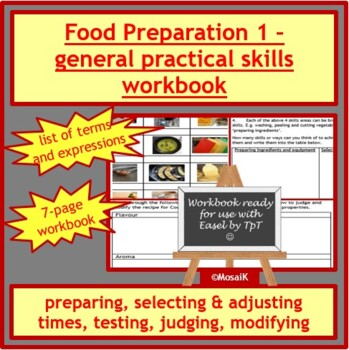 Cooking: Food preparation skills - timing, judging, modifying and preparing food