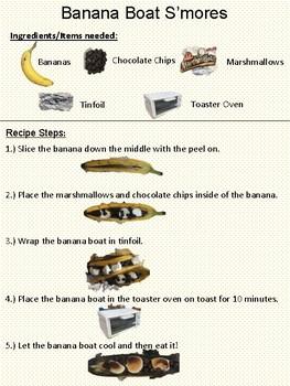 Cooking - Banana Boat S'mores