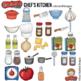 """Cooking / Kitchen Clip Art: """"Chef's Kitchen"""""""