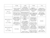 Cooking Club Activity Schedule