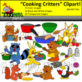 Cooking and Baking Critters Clipart