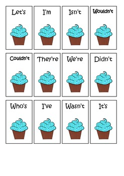 Cooking Cupcake Contractions