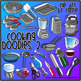Cooking Doodles 2 (Line Art, BW, full-color PNG images)