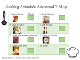 Cooking FREEBIE Visual Schedule and Reinforcement Speech and Language