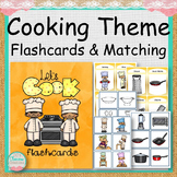 COOKING THEME Flashcards and File Folder Matching