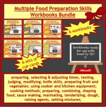 Cooking: Food Preparation Mega-BUNDLE - 6 workbooks and many cue cards