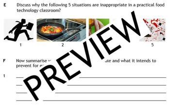 Cooking: Hygiene and Safety - my 4 resources + Bonus set of cue cards