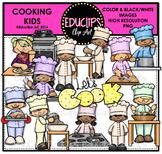 Cooking Kids Clip Art Bundle {Educlips Clipart}