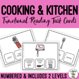 Cooking & Kitchen Supplies Functional Reading Task Clip Cards
