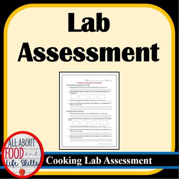 Cooking Lab Summative Assessment