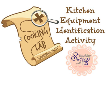 Cooking Lab Utensils & Equipment Scavenger Hunt Activity