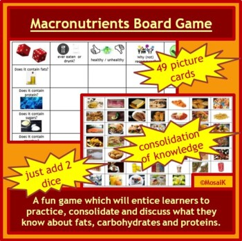 Cooking: Macro Nutrients fats carbs proteins
