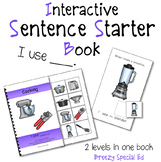 Cooking Materials (I Use) Interactive/Adapted Sentence Sta