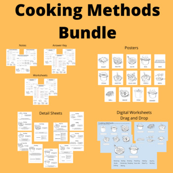 Cooking Methods Bundle (FCS, ProStart, FACS, Culinary, Hospitality, Foods)