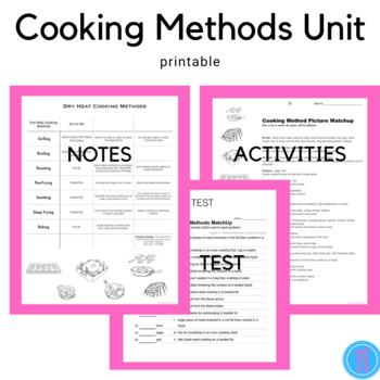 Cooking Methods (FCS, Family Consumer Science, FACS)