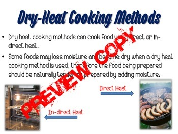 Cooking Methods PowerPoint for Foods Nutrition and Culinary Arts Classes