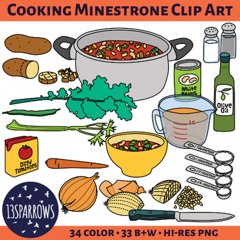 Cooking Minestrone Clip Art