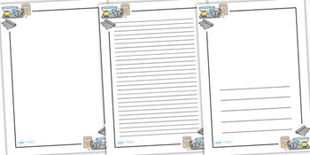 Cooking Printable Writing Paper