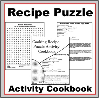 Cooking Recipe Puzzle Activity Cookbook