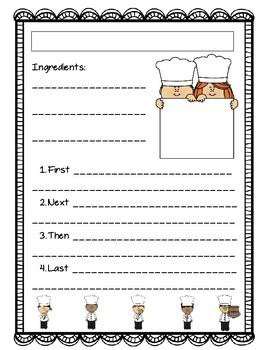 Cooking Recipe Sheet